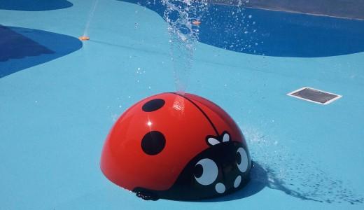 coccinelle jet d'eau-jeux aquatiques
