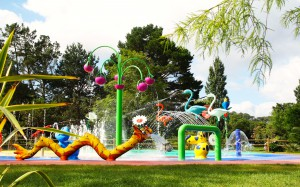 aires de jeux aquatiques,sculptures ctoon, jeux aquatiques